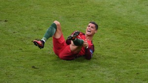 Portugal captain Cristiano Ronaldo had to go off injured during the Euro 2016 Final with France at the Stade de France, Paris